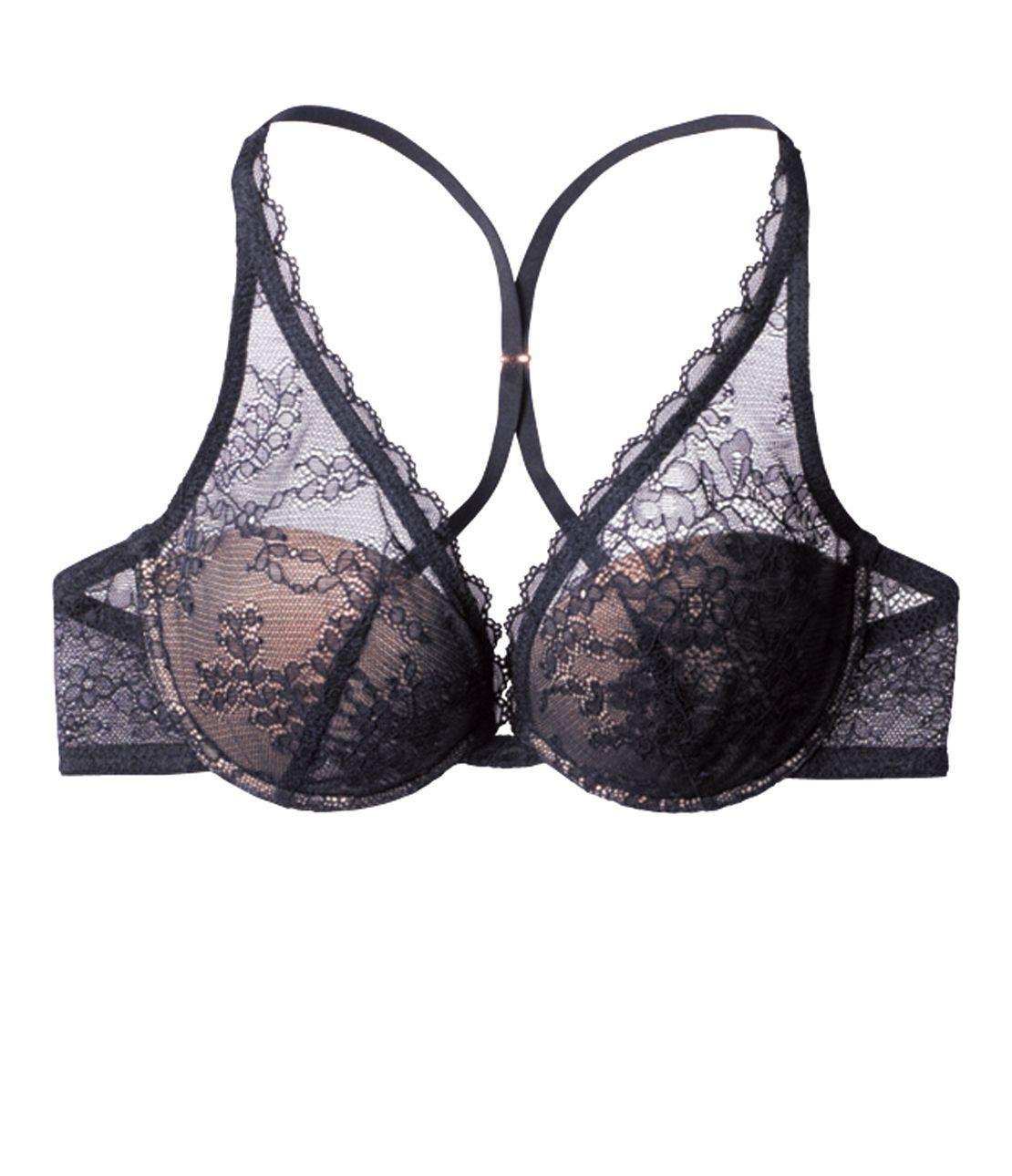 裸色系深V蕾丝奢华文胸