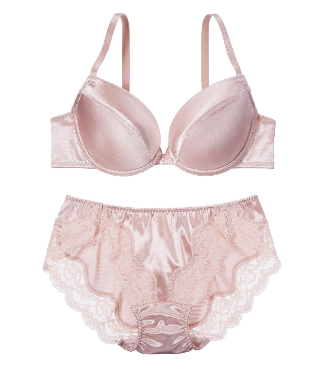 YM Simple Satin Bra Set (Bra & Panty)