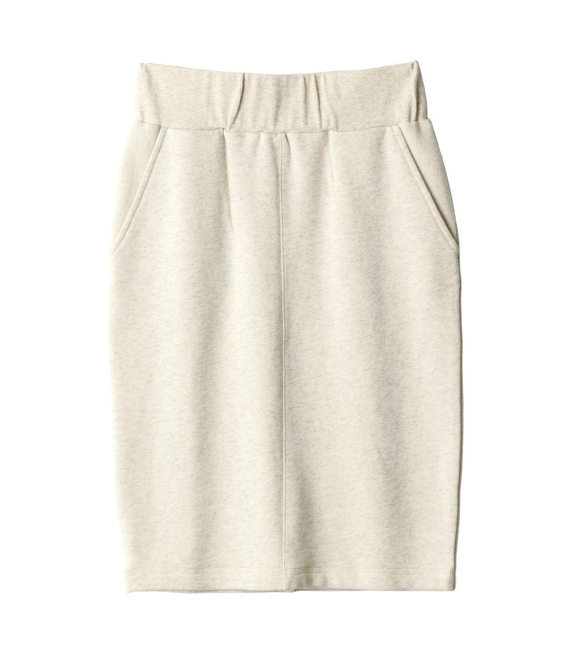Skin side manure around wool lining fur pencil skirt