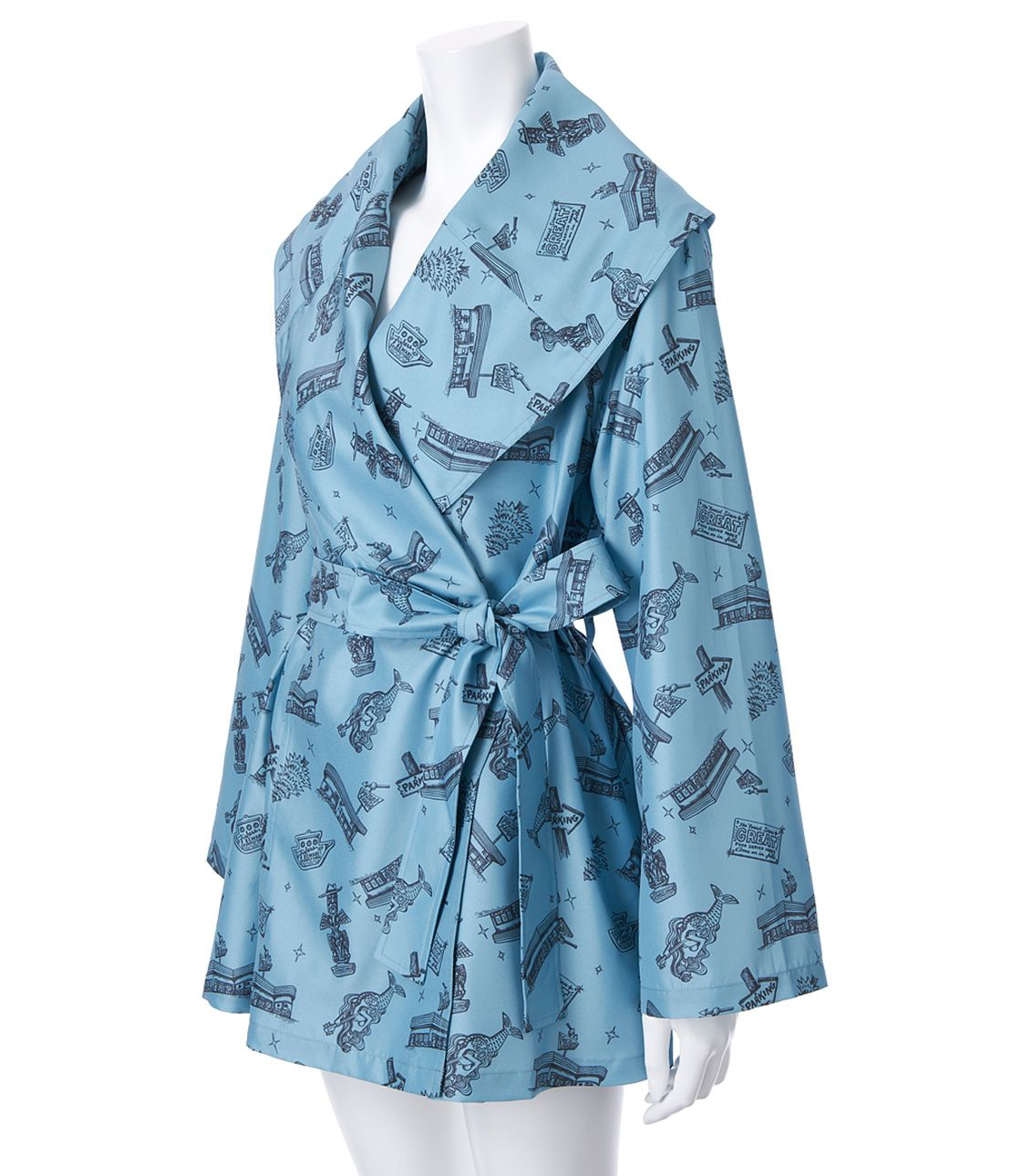 JRK print flare coat