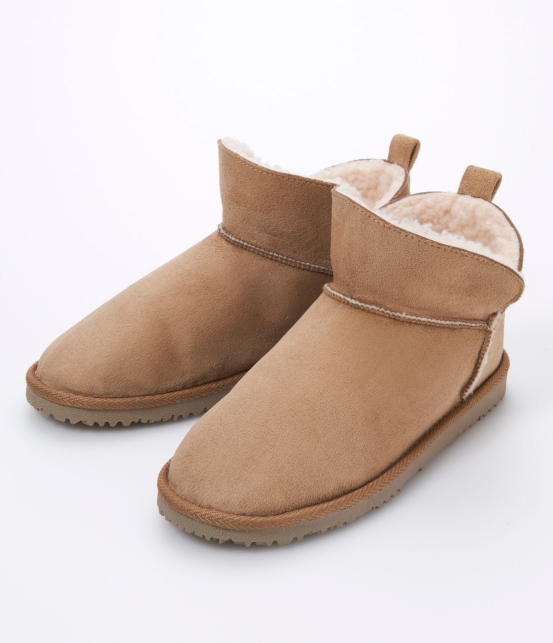 2WAY ankle Mouton boots