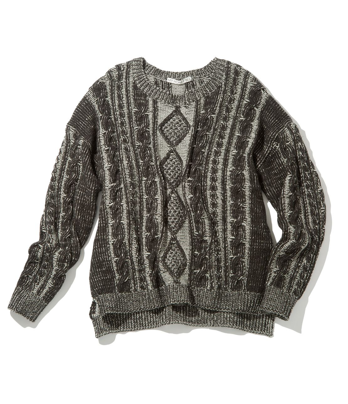 MHB cable knit top