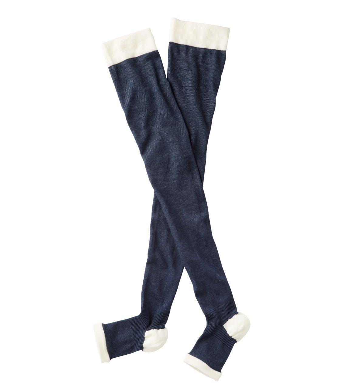 Cotton mixed ringtone pressure over knee socks
