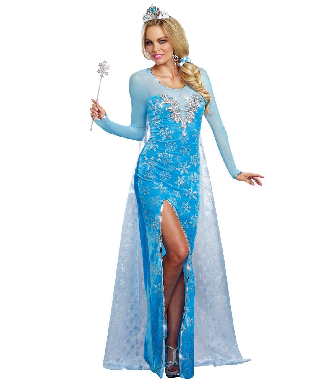 Ice Queen Costume Set (Dress & Tiara)