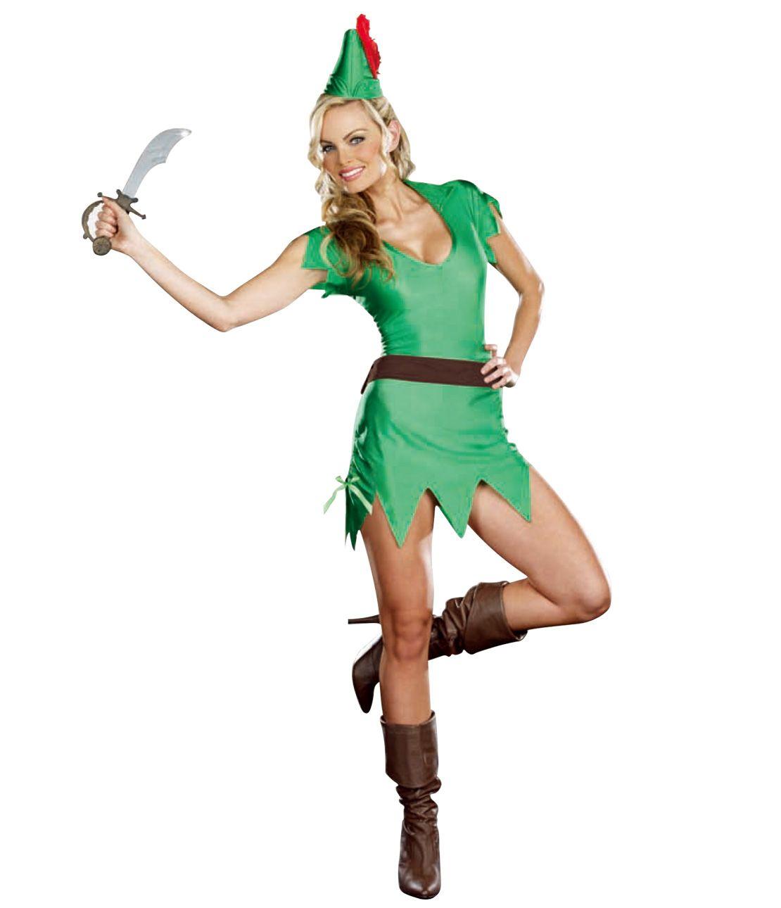 Adventure Girl Costume Set (Dress, Hat, Belt, Fake Sword)