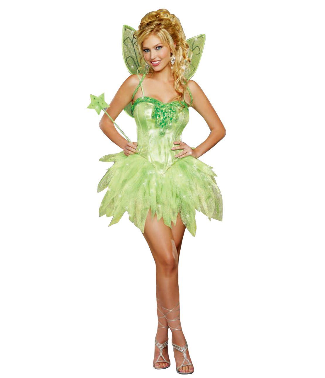 Fairy Costume Set (Dress, Wing, Stick)
