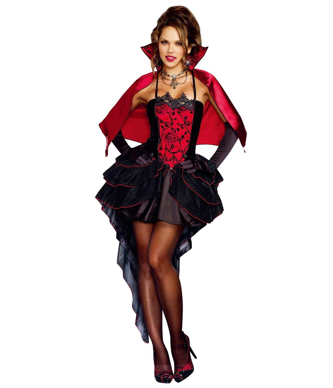 Vampire Queen Costume Set (Dress, Cloak, Choker)