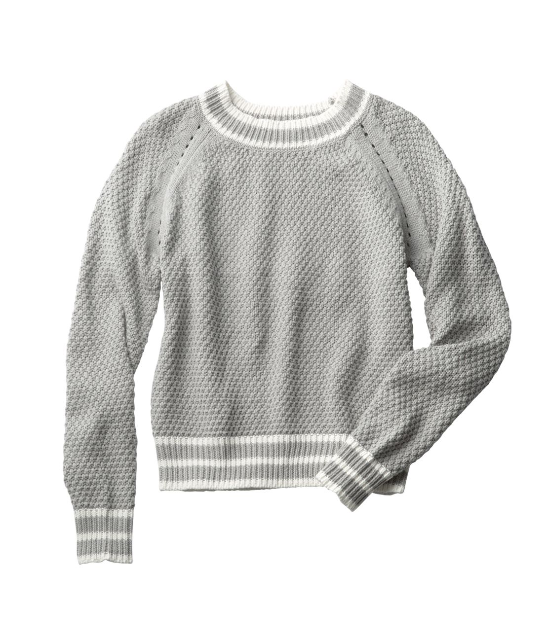 Eyelet line sweater
