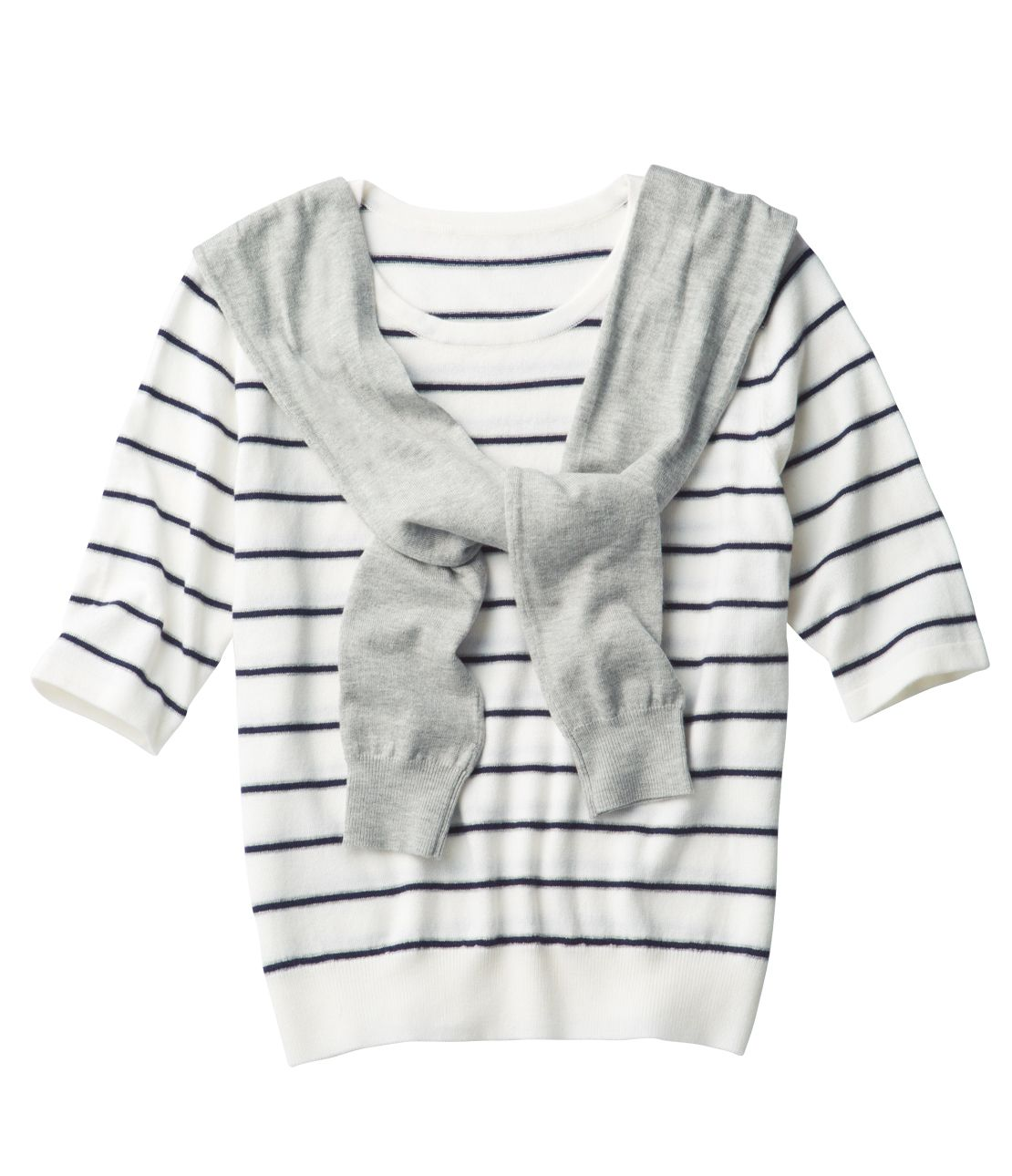 Fake sleeve knit top