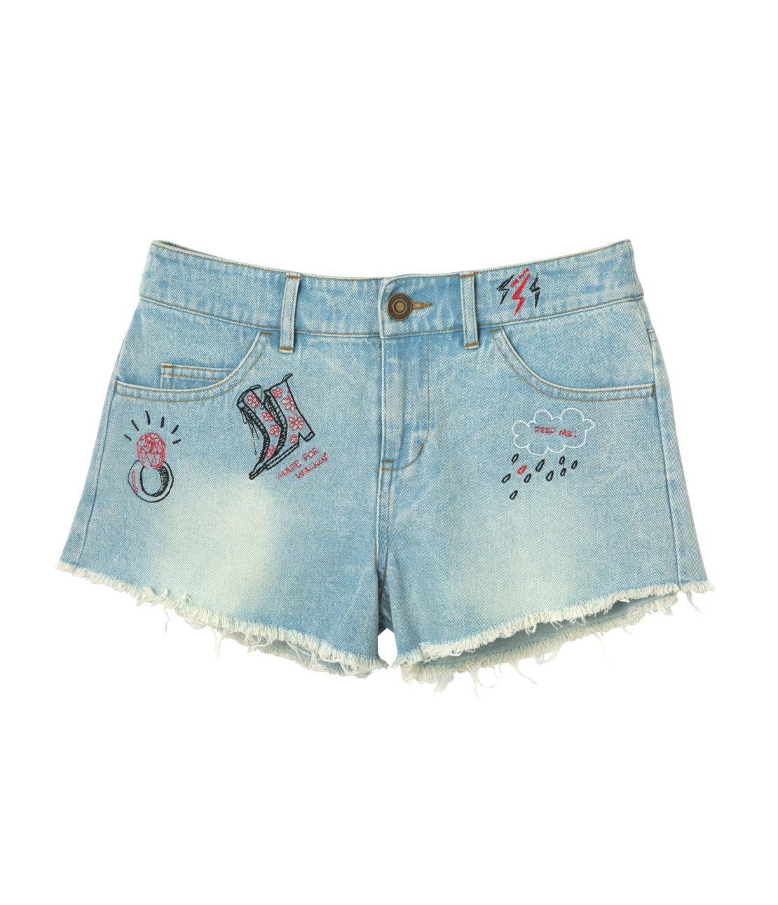 JRK embroidered shorts denim