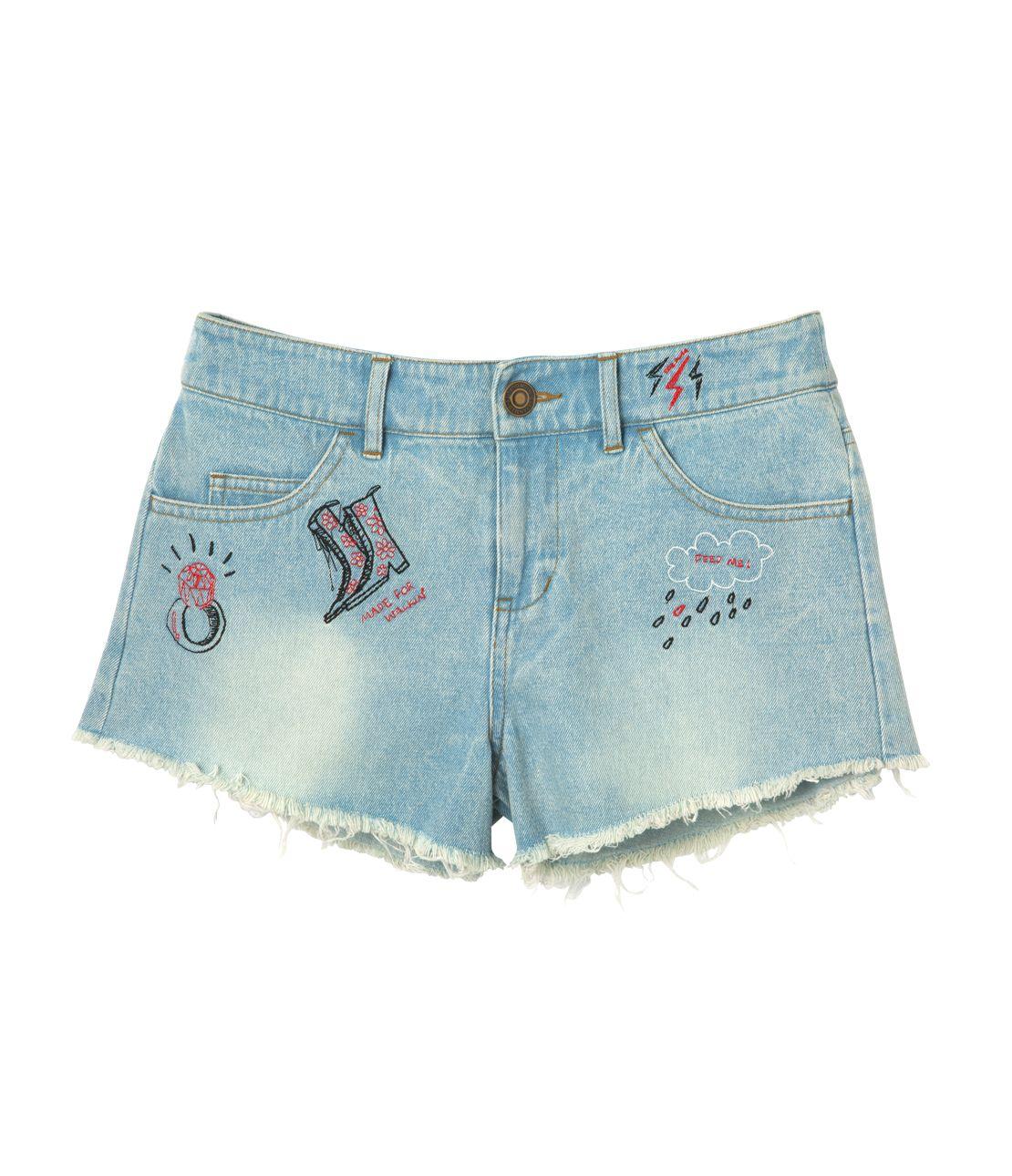 JRK embroidered shorts denim