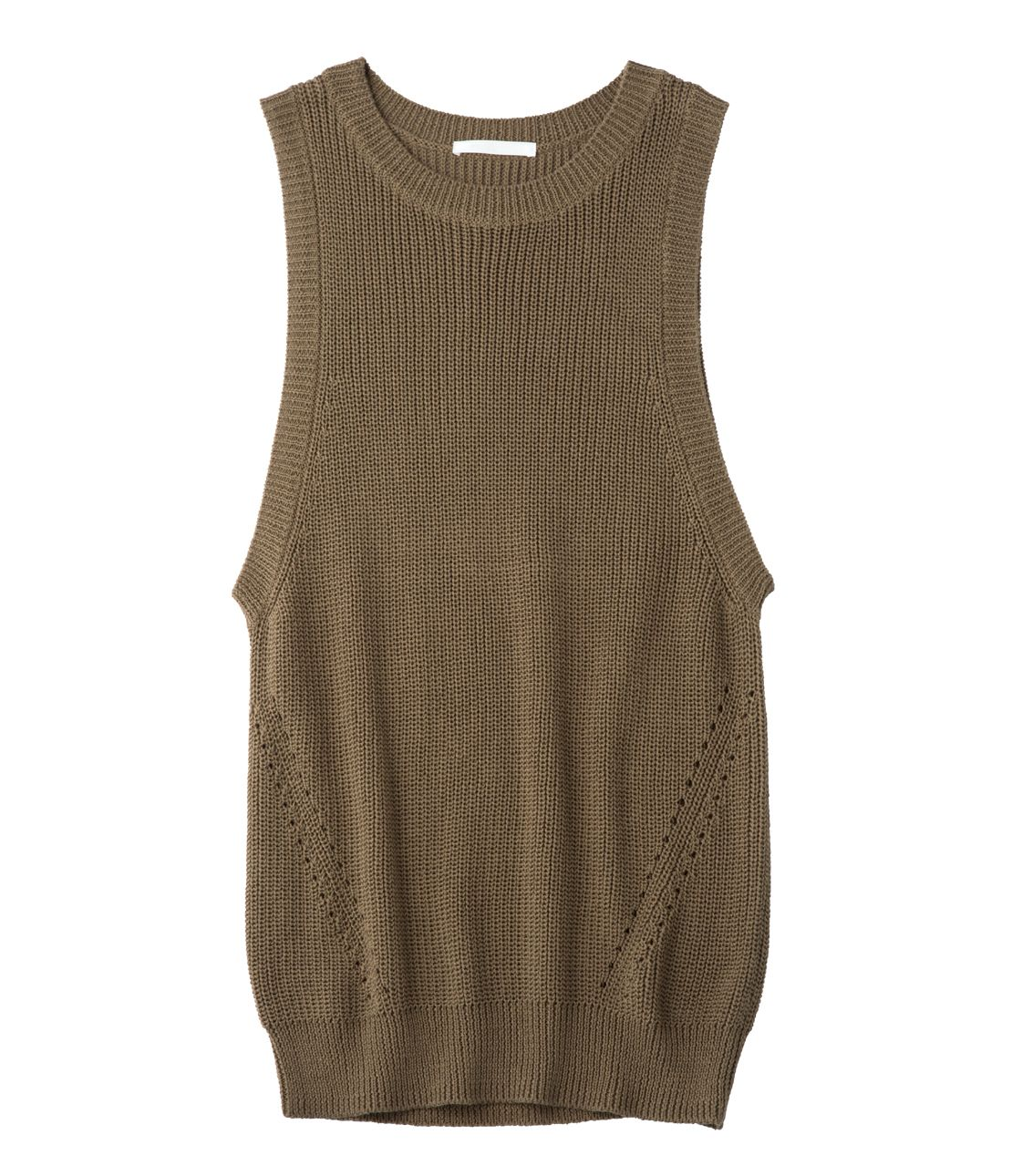 Side open knit tank