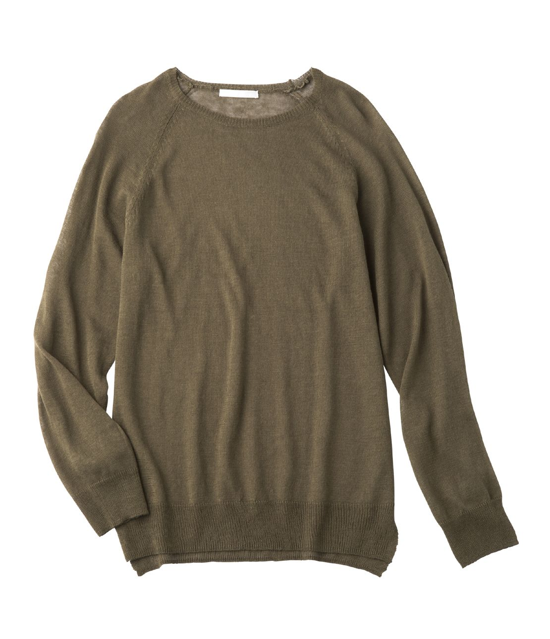 Washable linen blend sweater