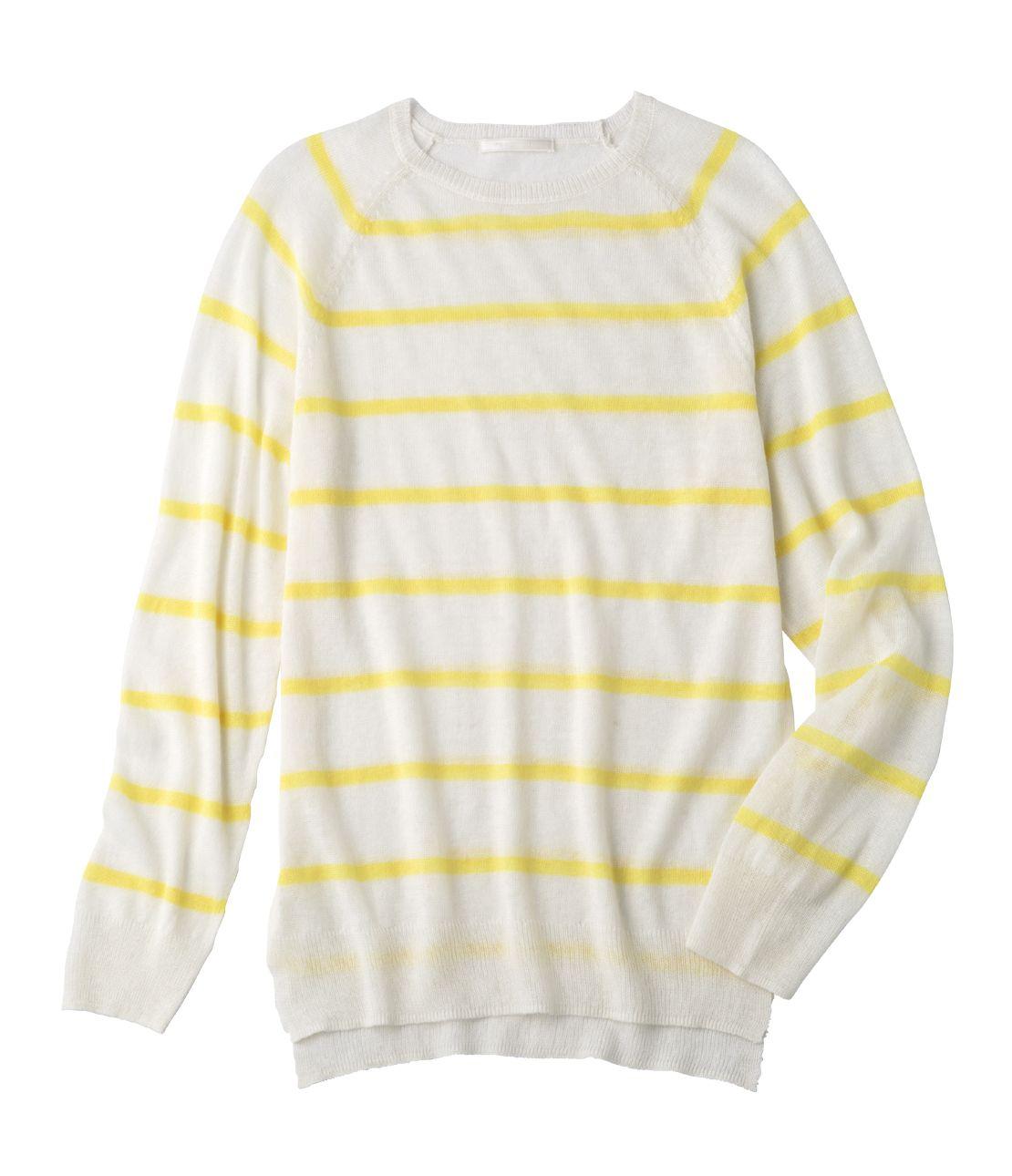 洗える麻混セーター
