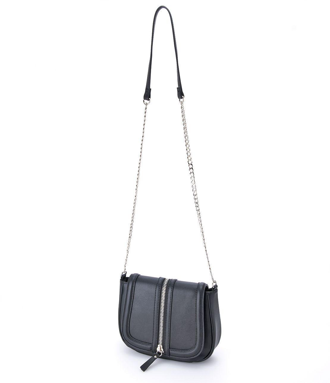 Zip point shoulder bag