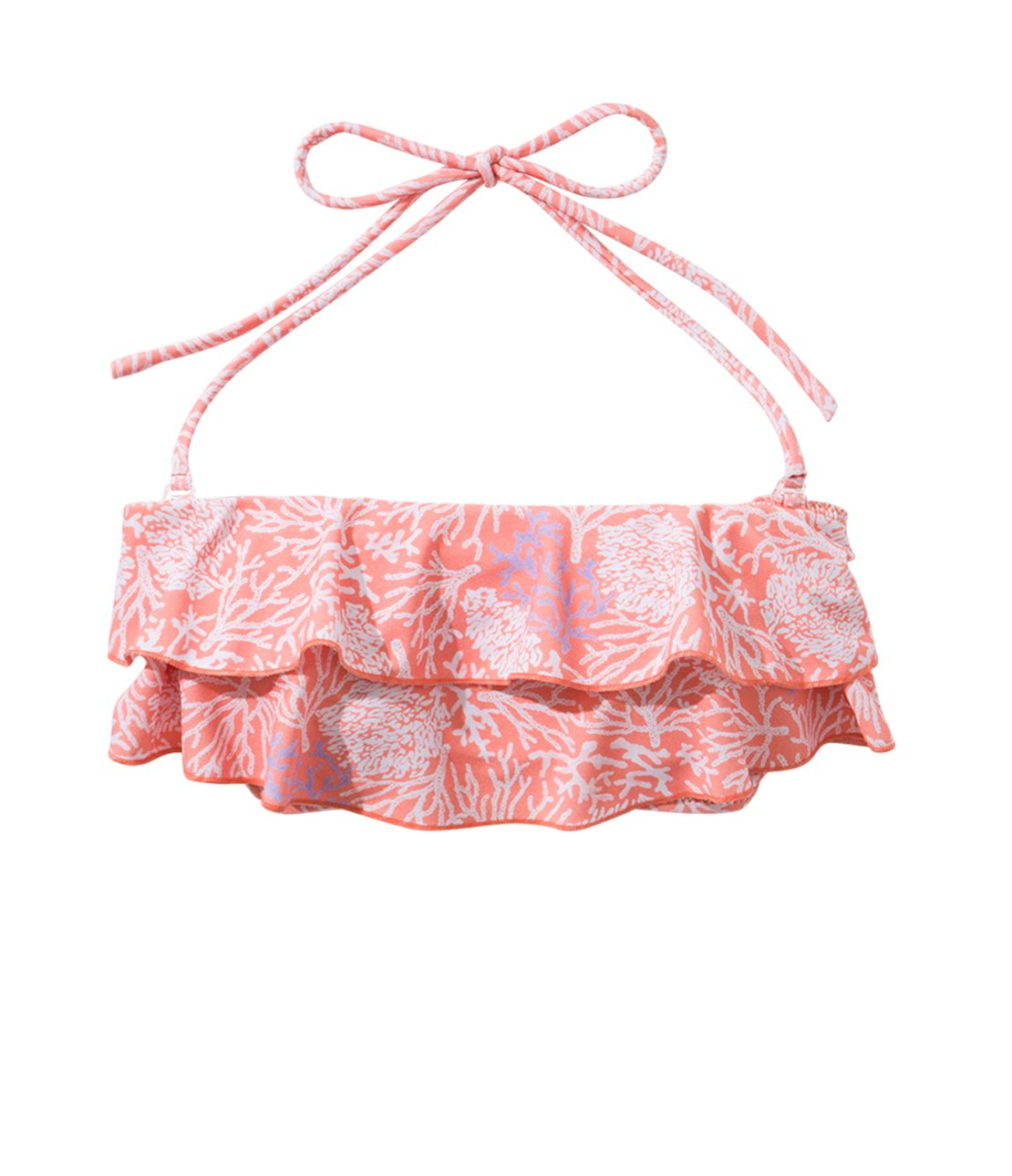 Frill Tube Swim Top