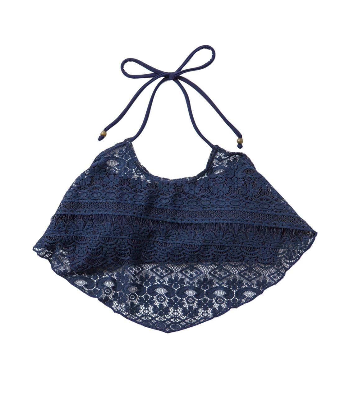 Lace swimwear top