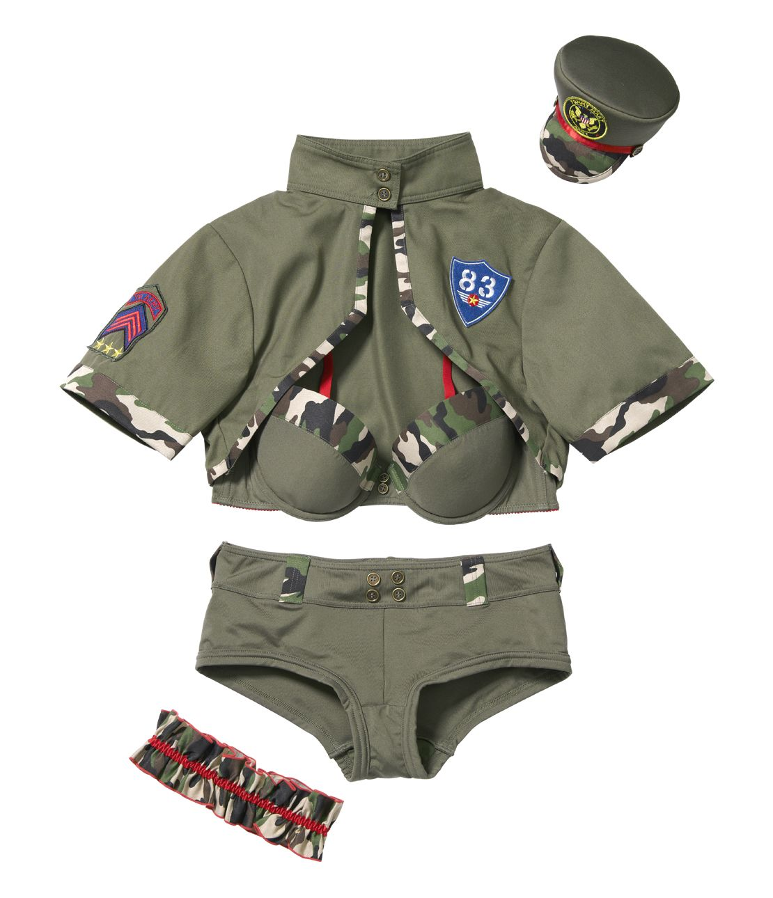 YM Army Bra Set