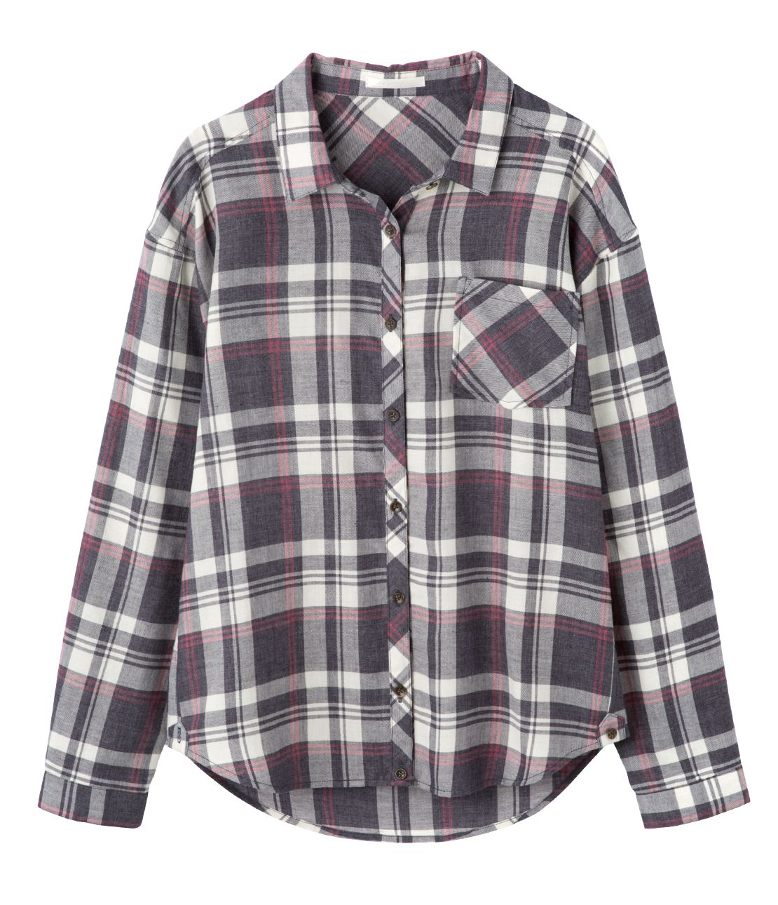 Drop shoulder 2-WAY check shirt