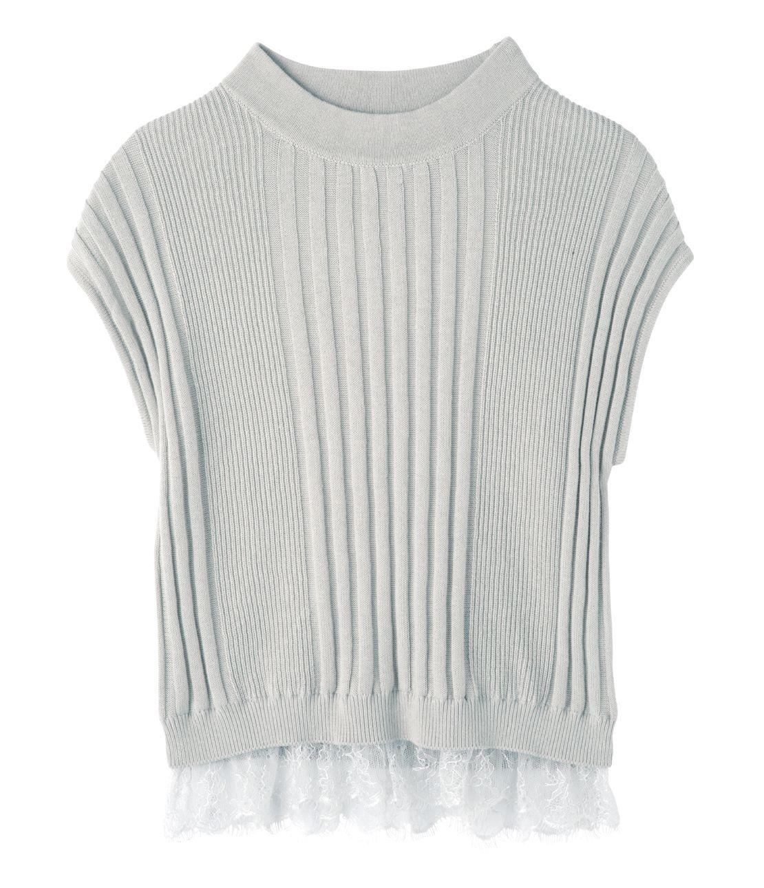 Hem lace short knit