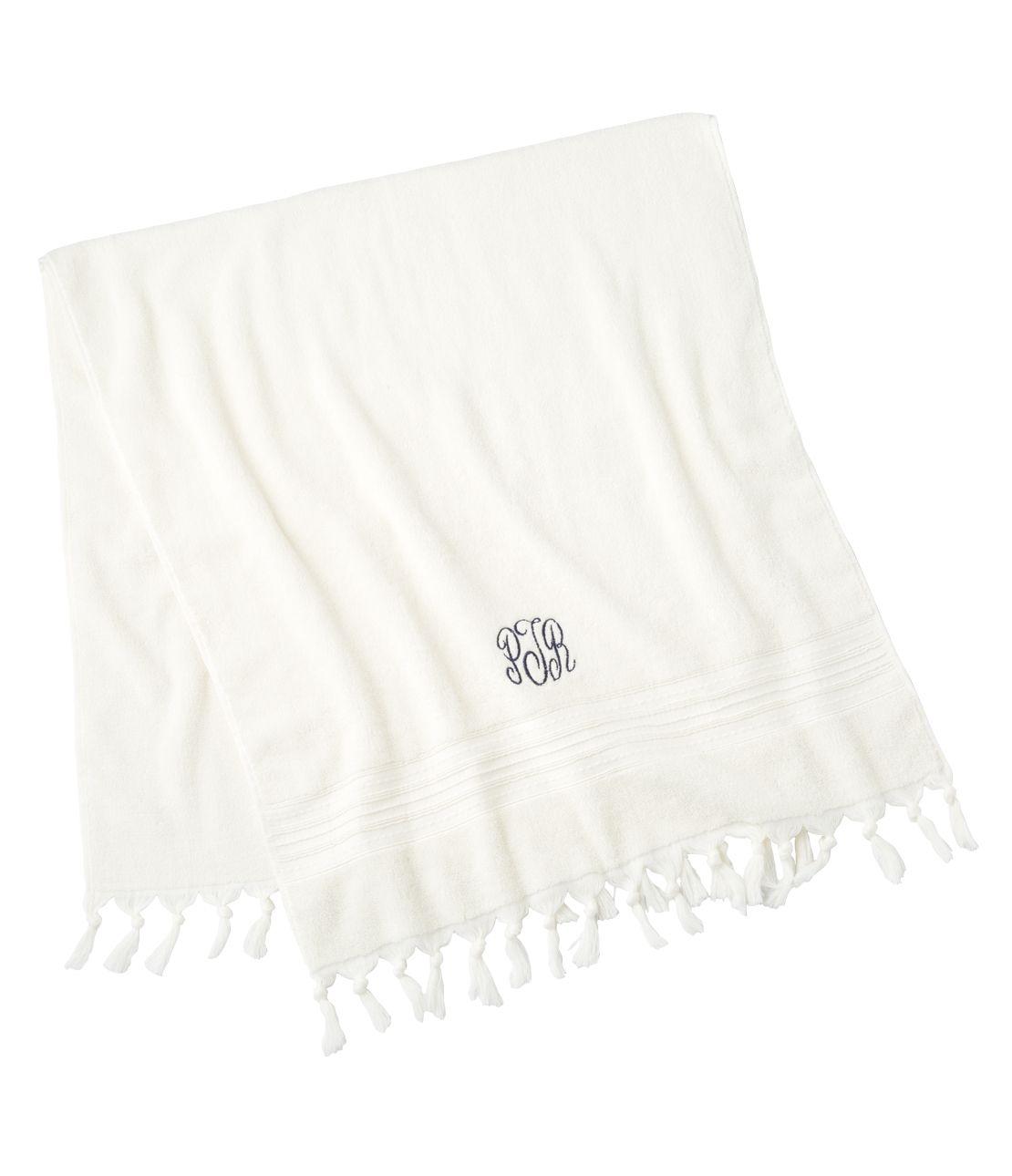 Tassel logo towel