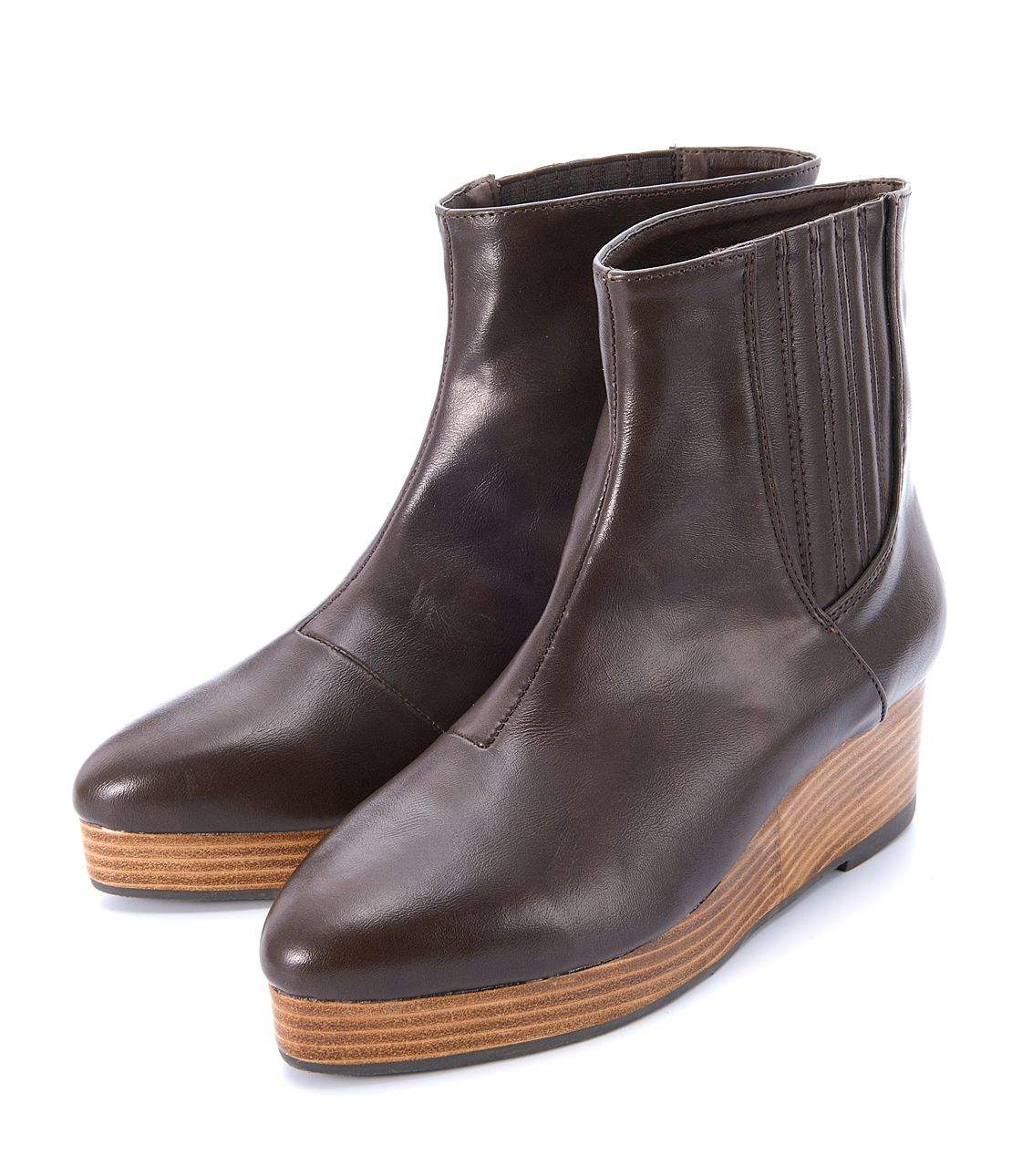 Stack wedge short boots
