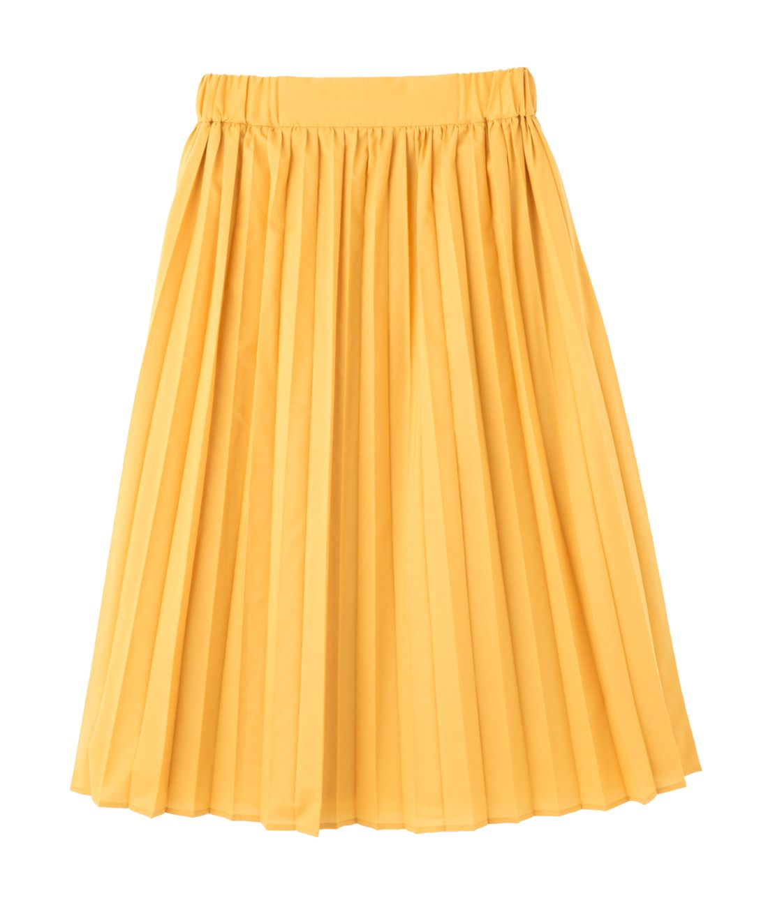 Narrow Pleated Midi Skirt