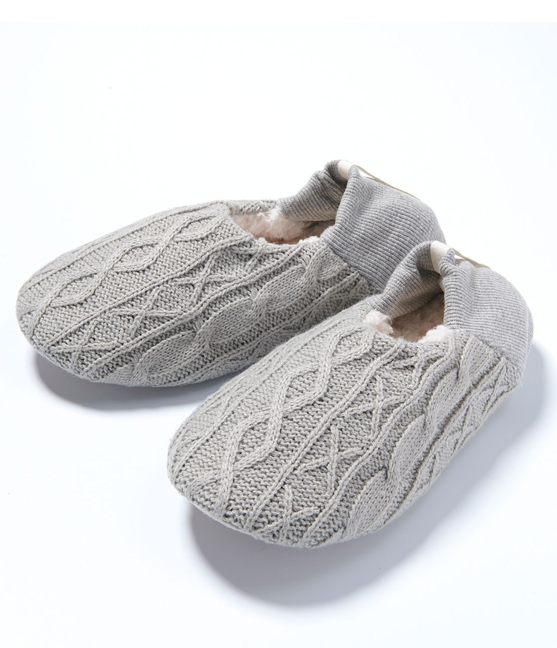 Cable Knitted Room Shoes