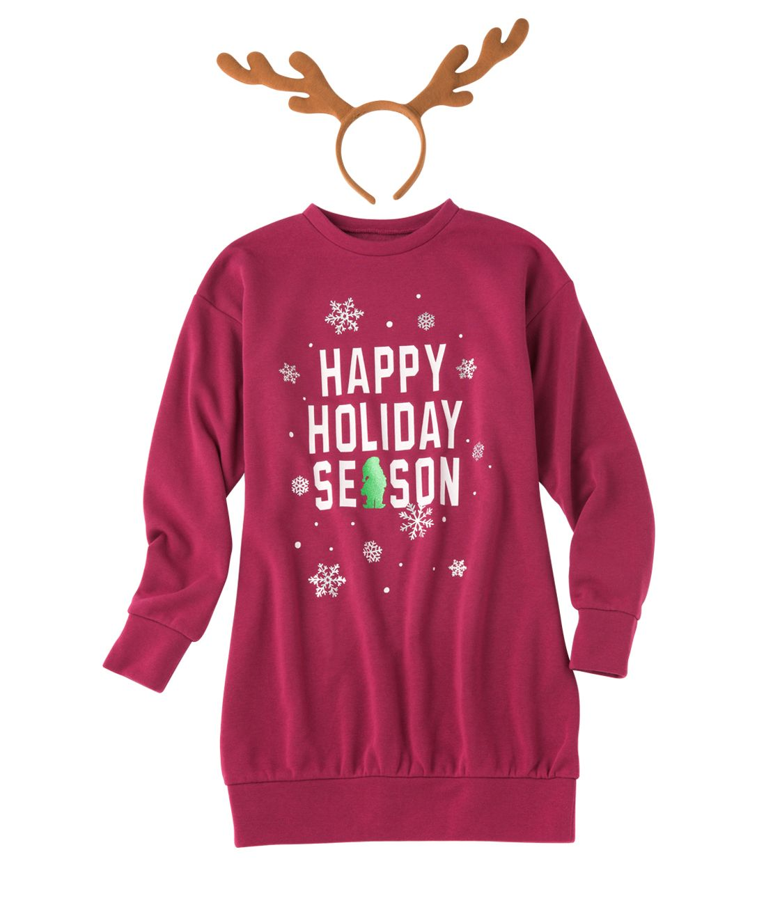Christmas sweat mini dress set