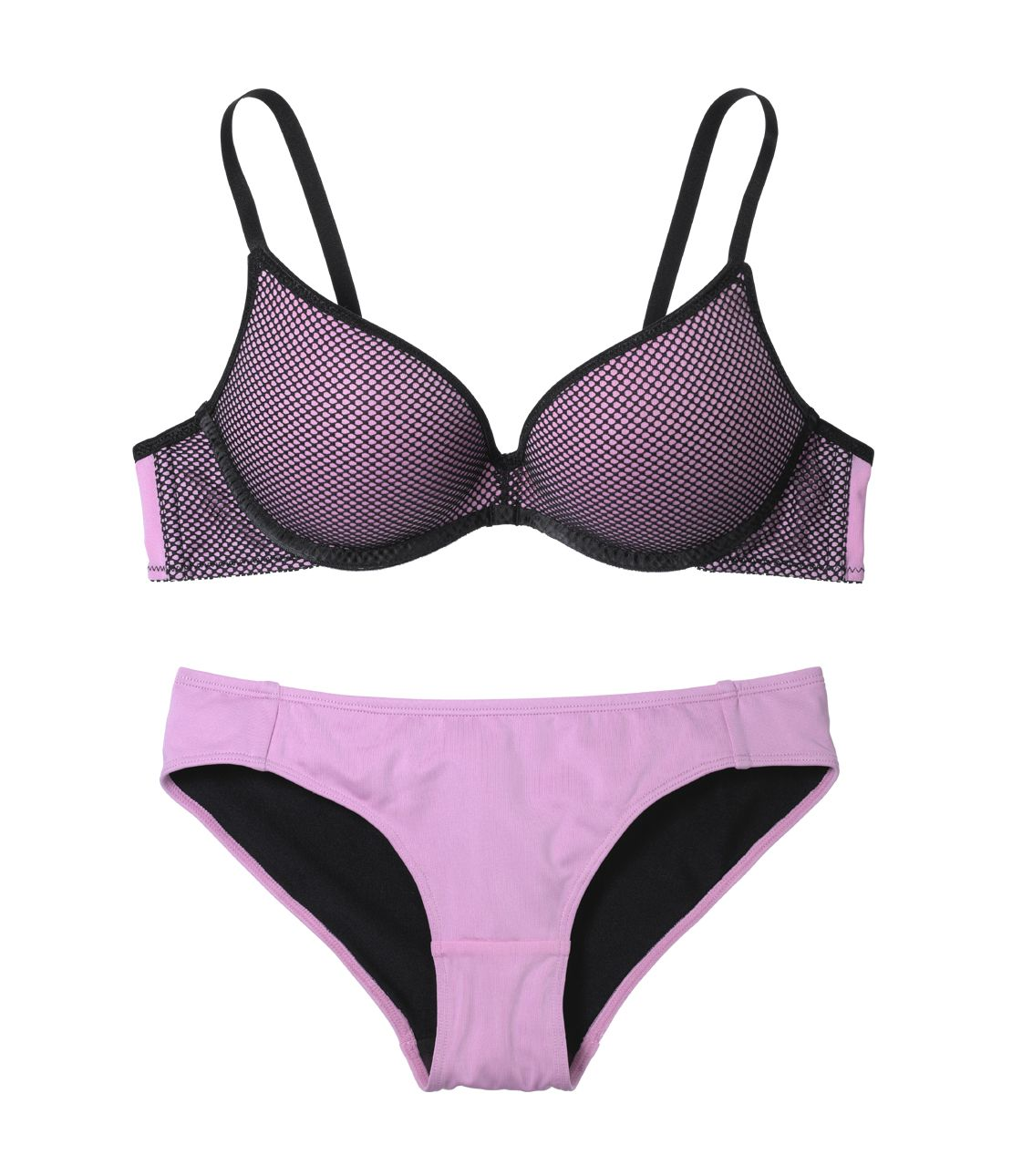 YM Simple net bra set