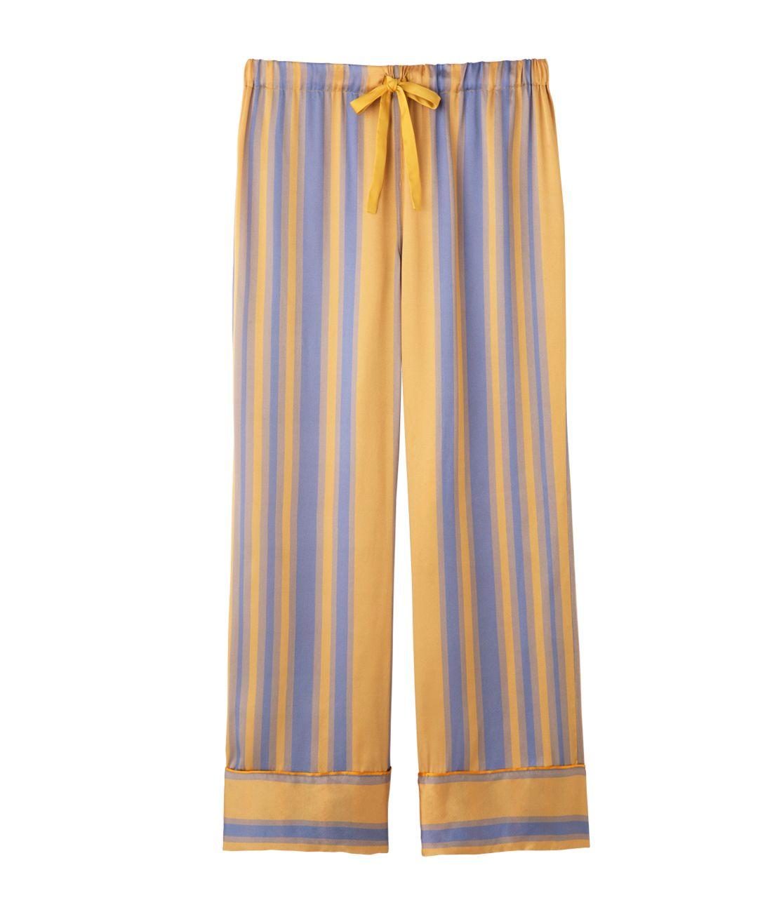 Silk satin long pants
