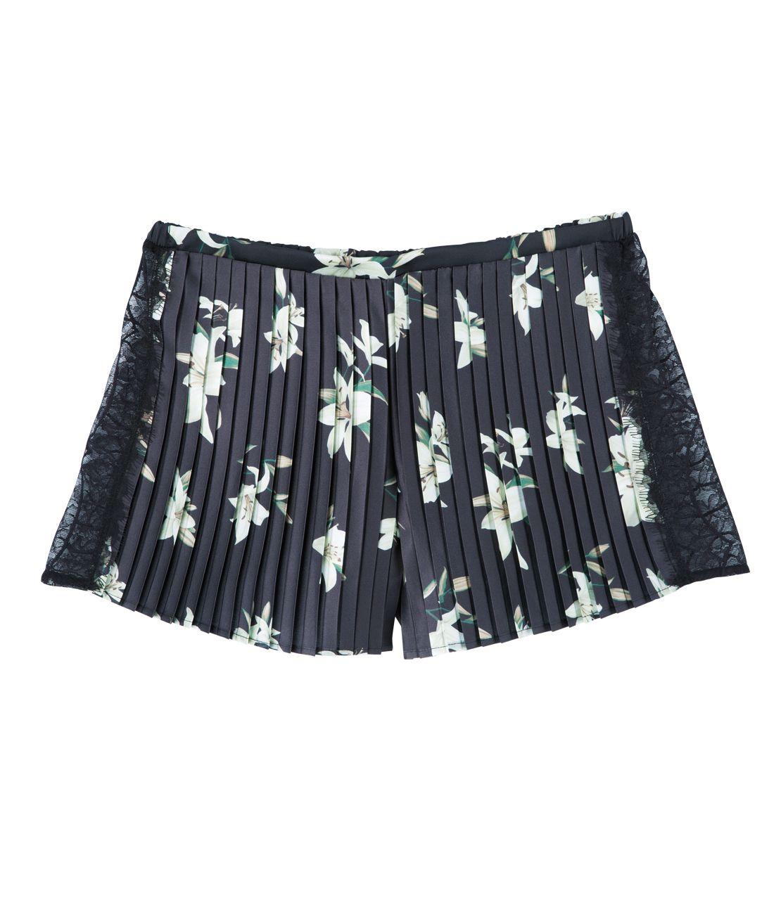 古典緞子短褲