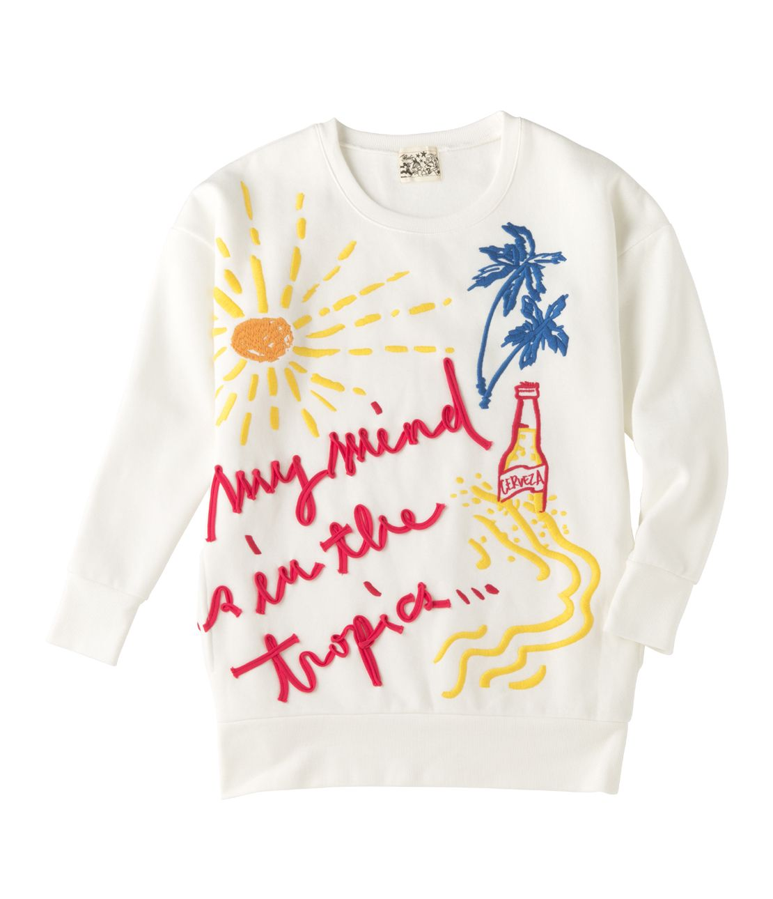 JRK tropical embroidery big sweat top
