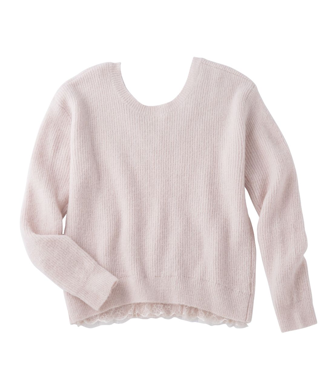 2WAY lace knit