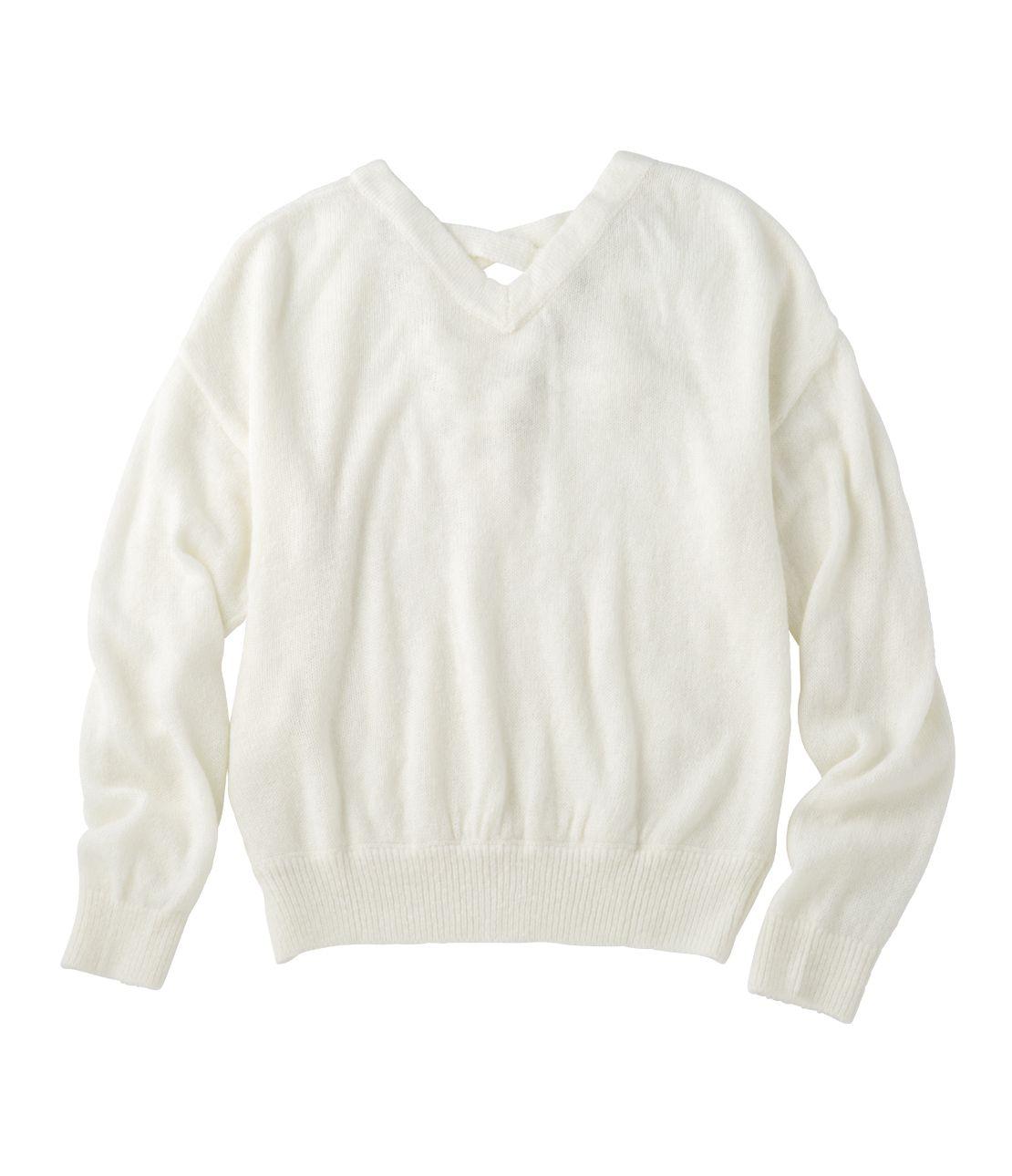 2WAY lace-knit