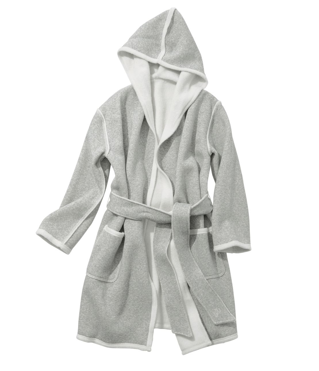 Double-Face hoody gown