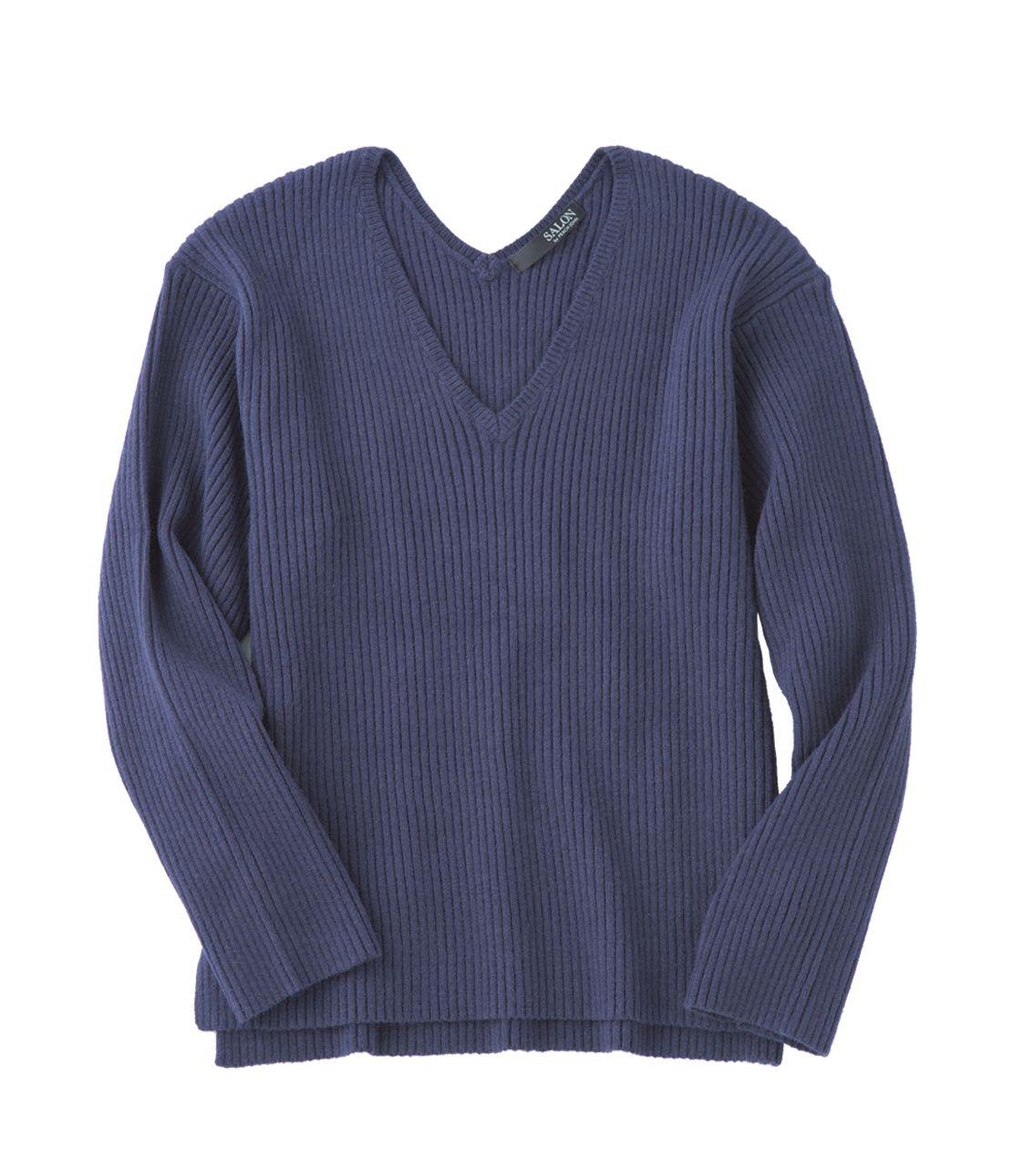 Wide rib knit top