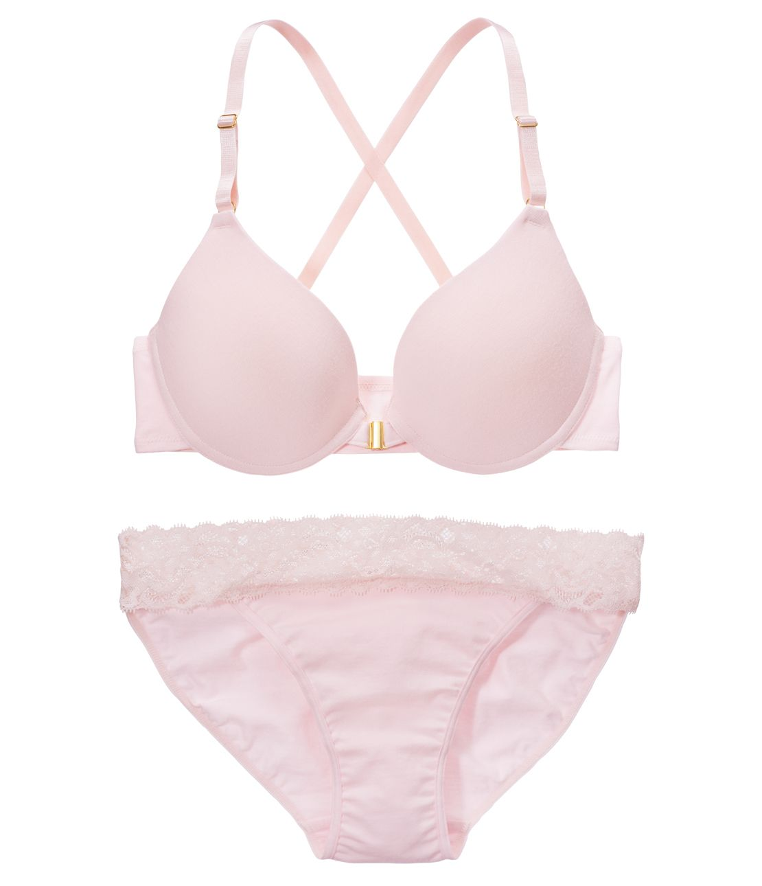 YM NEW simple back cross Bra Set
