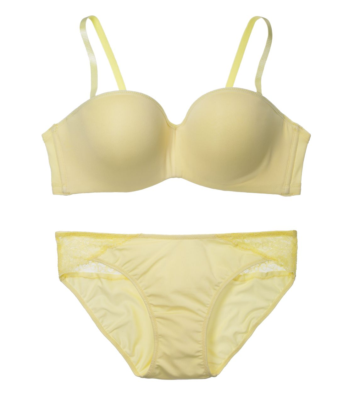 YM NEW simple strapless set