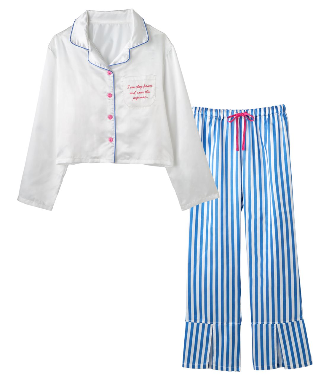 YMサテンシャツパジャマ