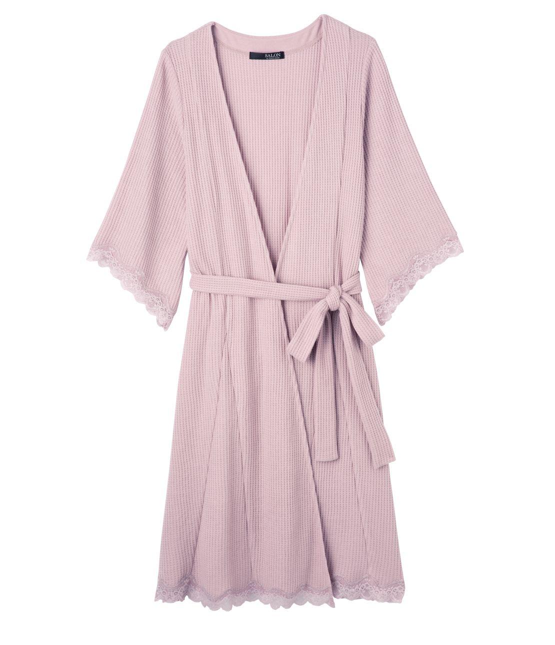 Soft waffle robe
