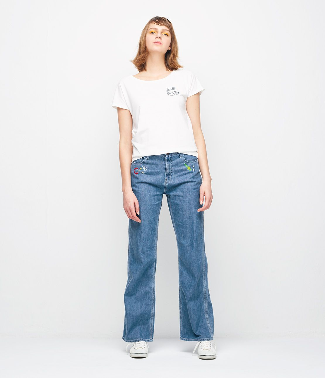 JRK camp embroidered denim