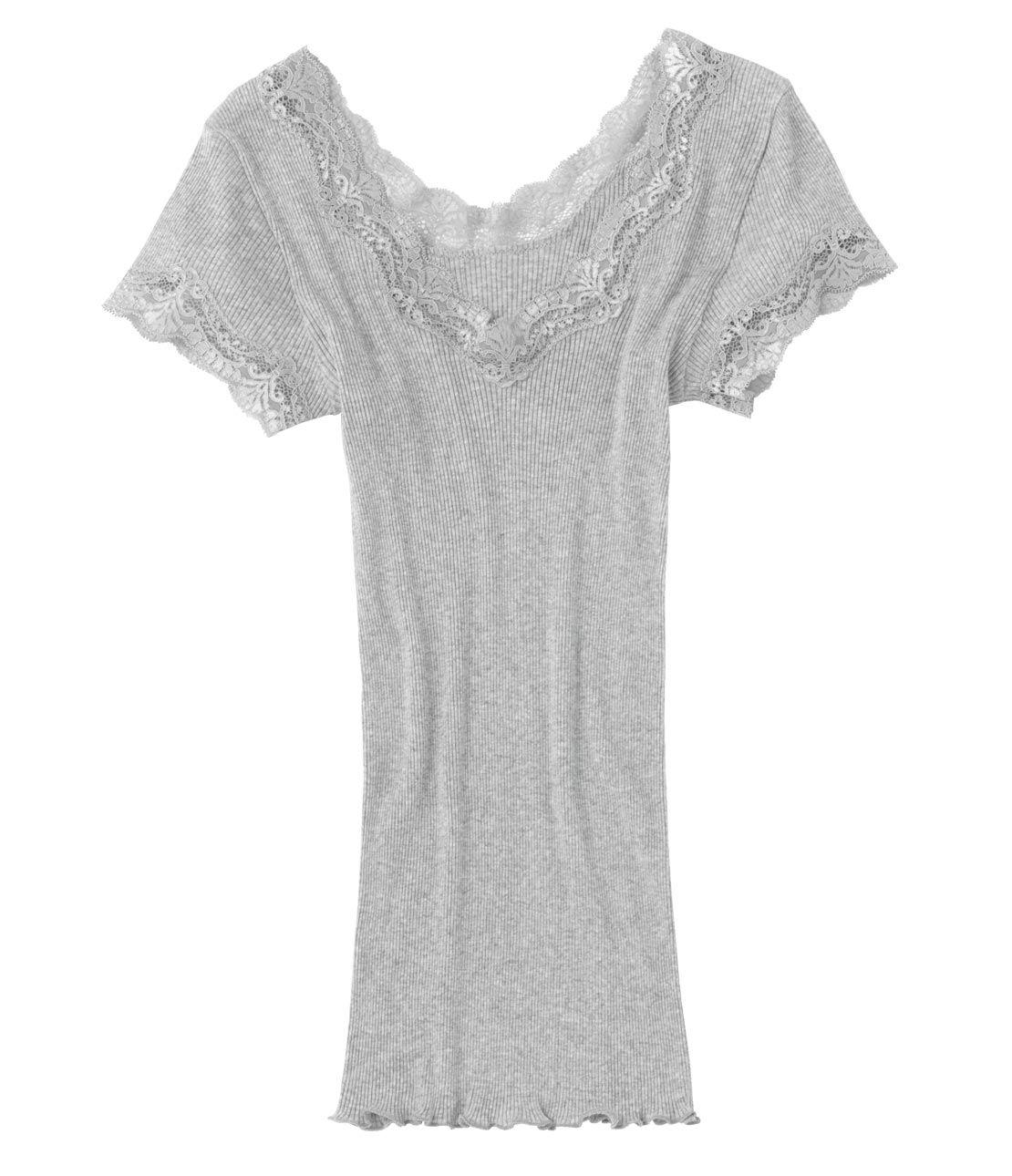 Rayon cotton rib short sleeve