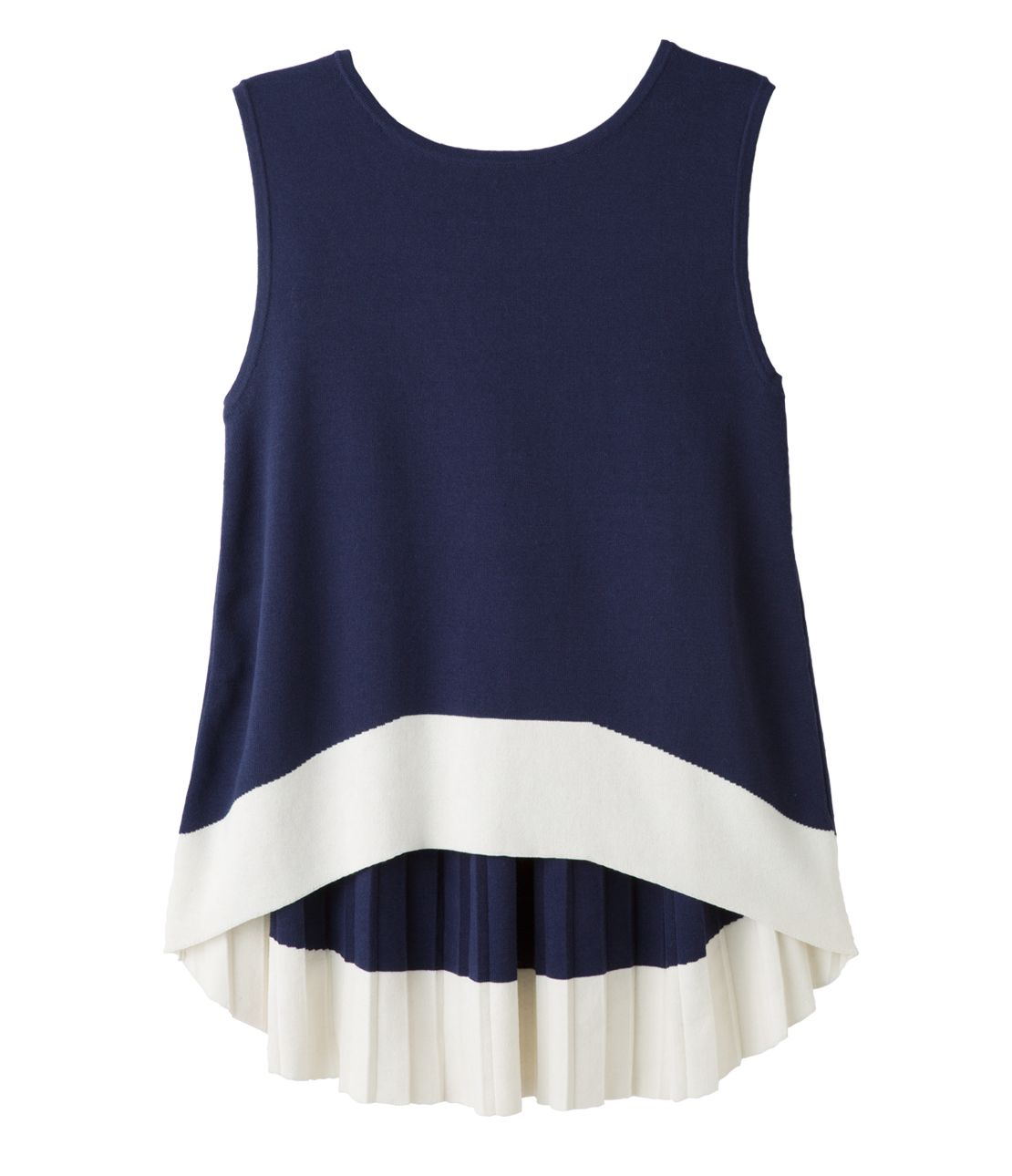Pleated knit tank