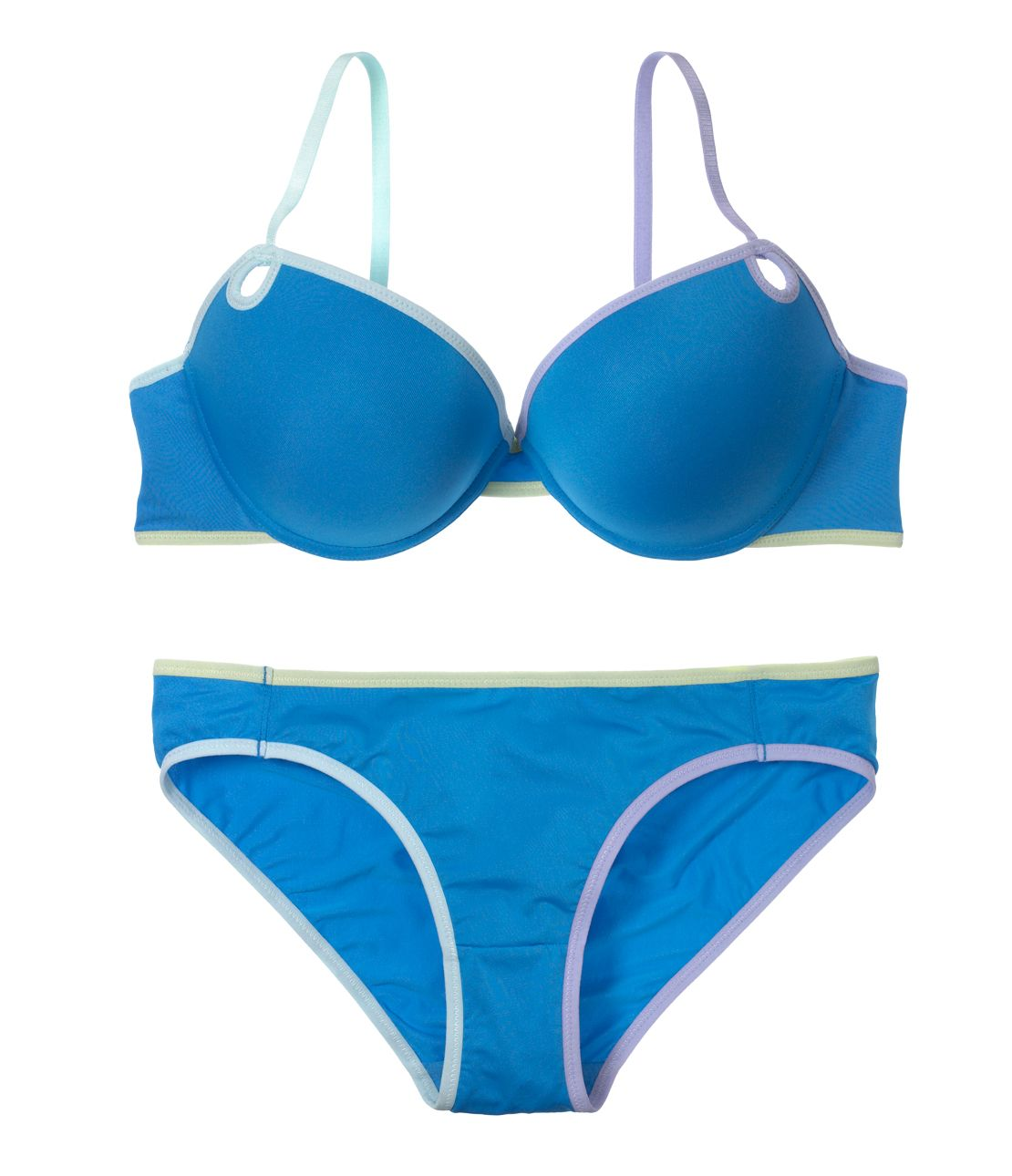 YM simple mix color bra set