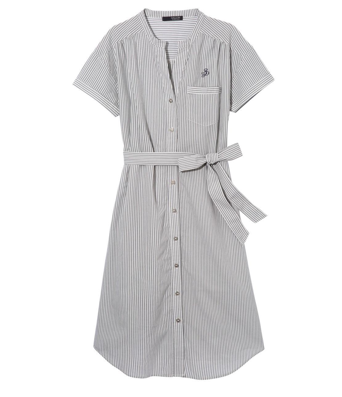 Ice Cotton (R) short-sleeved shirt dress
