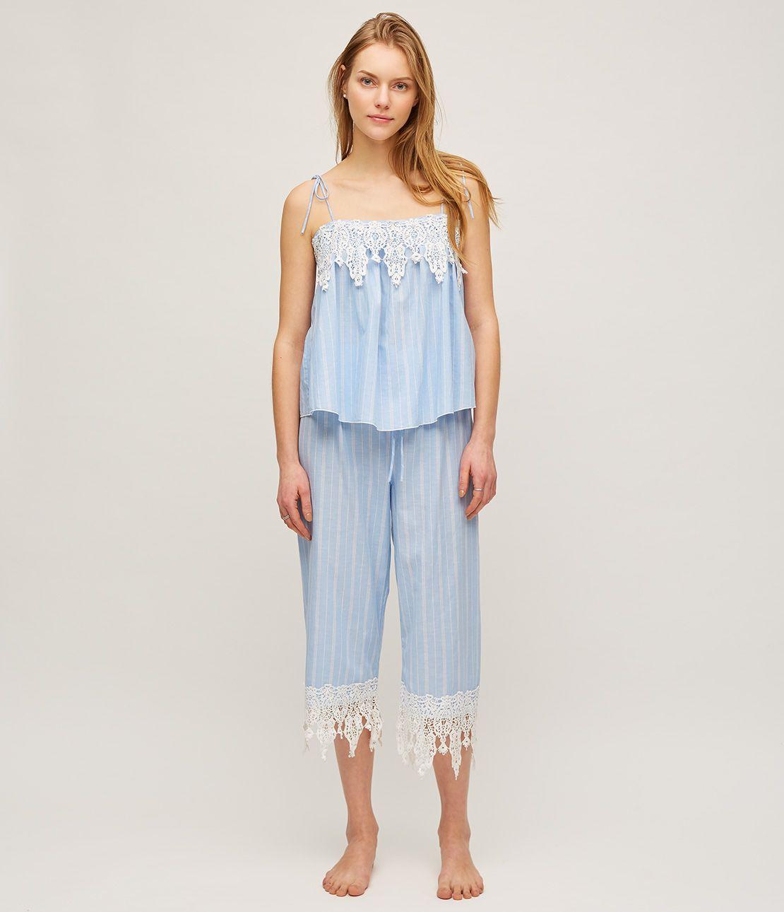 Ribbon Cami lace pajamas