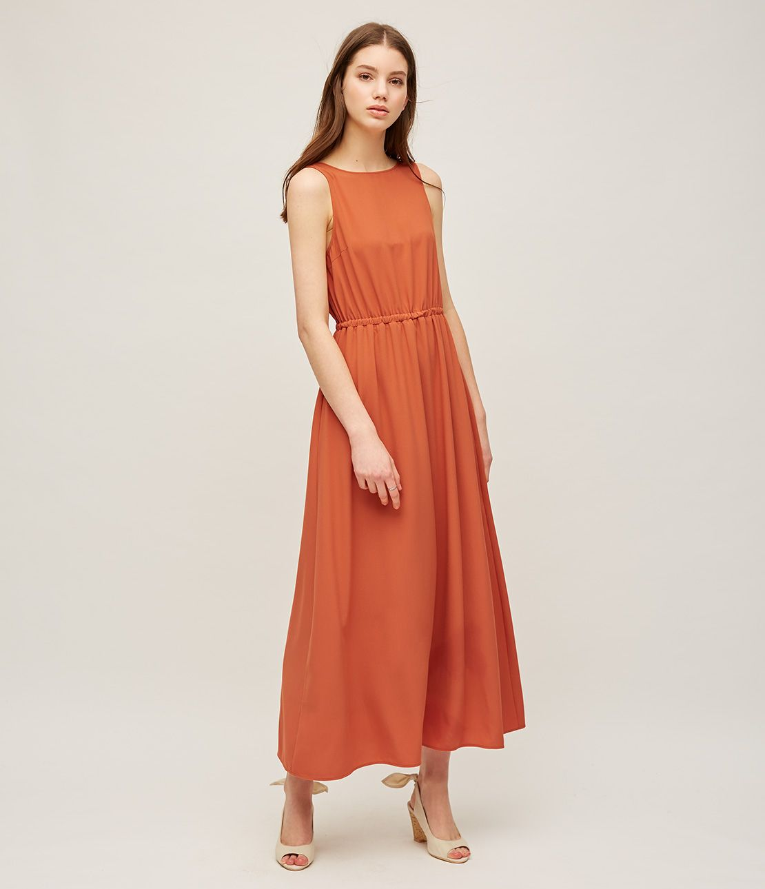 2WAY sleeveless long dress