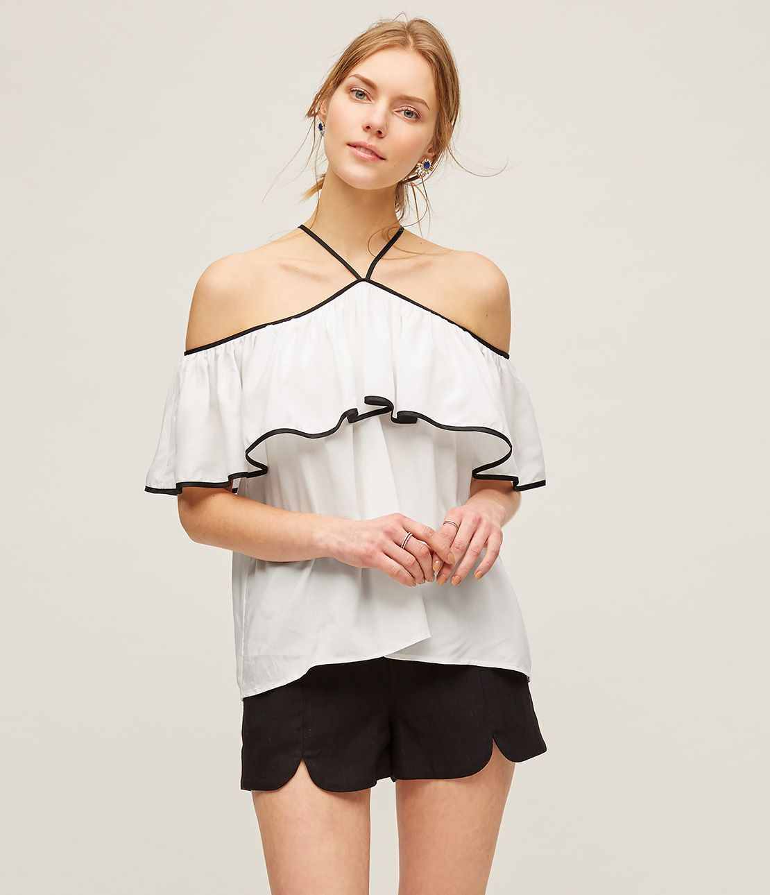 Flare off the shoulder top