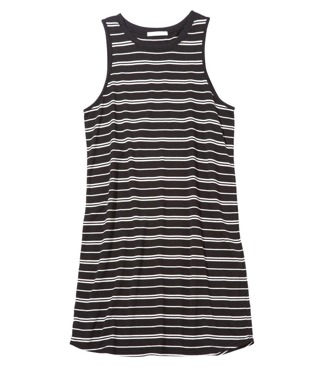 Jersey Sleeveless border mini dress